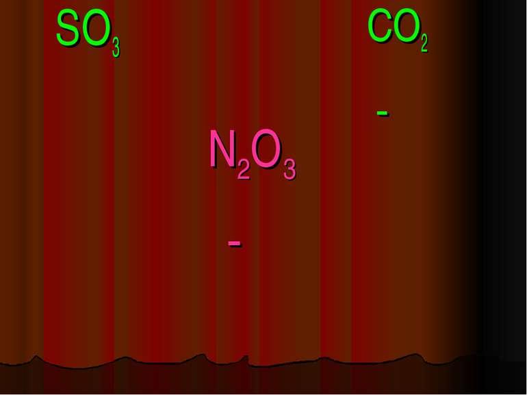 N2O3 SO3 CO2