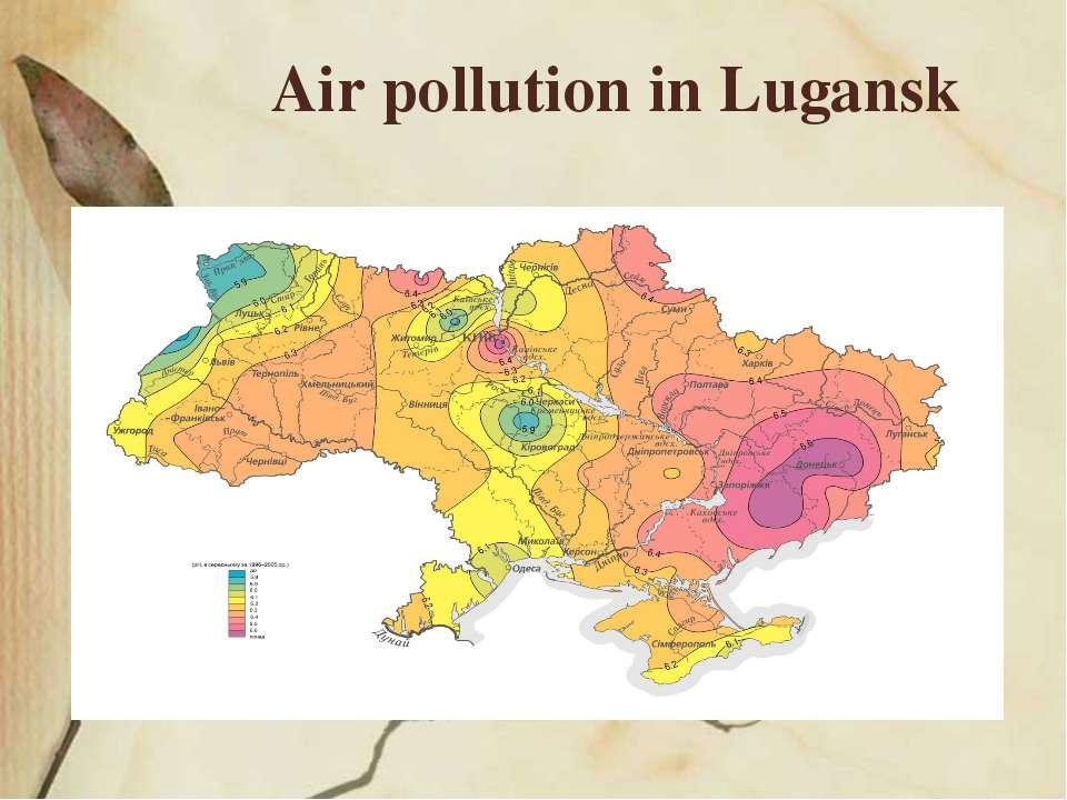 Air pollution in Lugansk