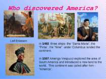 Who discovered America?