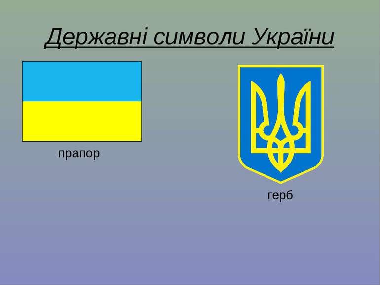 Державні символи України прапор герб