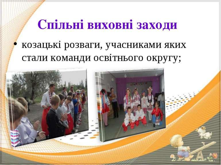 Спільні виховні заходи козацькі розваги, учасниками яких стали команди освітн...