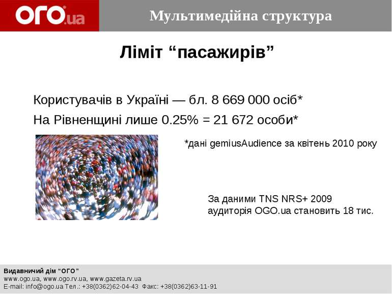 """Ліміт """"пасажирів"""" Користувачів в Україні — бл. 8669000 осіб* На Рівненщині ..."""