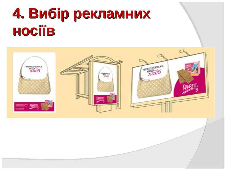 4. Вибір рекламних носіїв