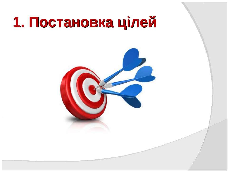 1. Постановка цілей