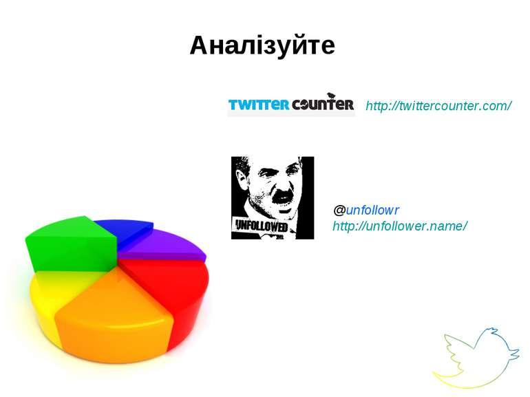 Аналізуйте @unfollowr http://unfollower.name/ http://twittercounter.com/