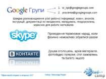 Швидке розповсюдження усієї робочої інформації, новин, анонсів, інструкцій, д...