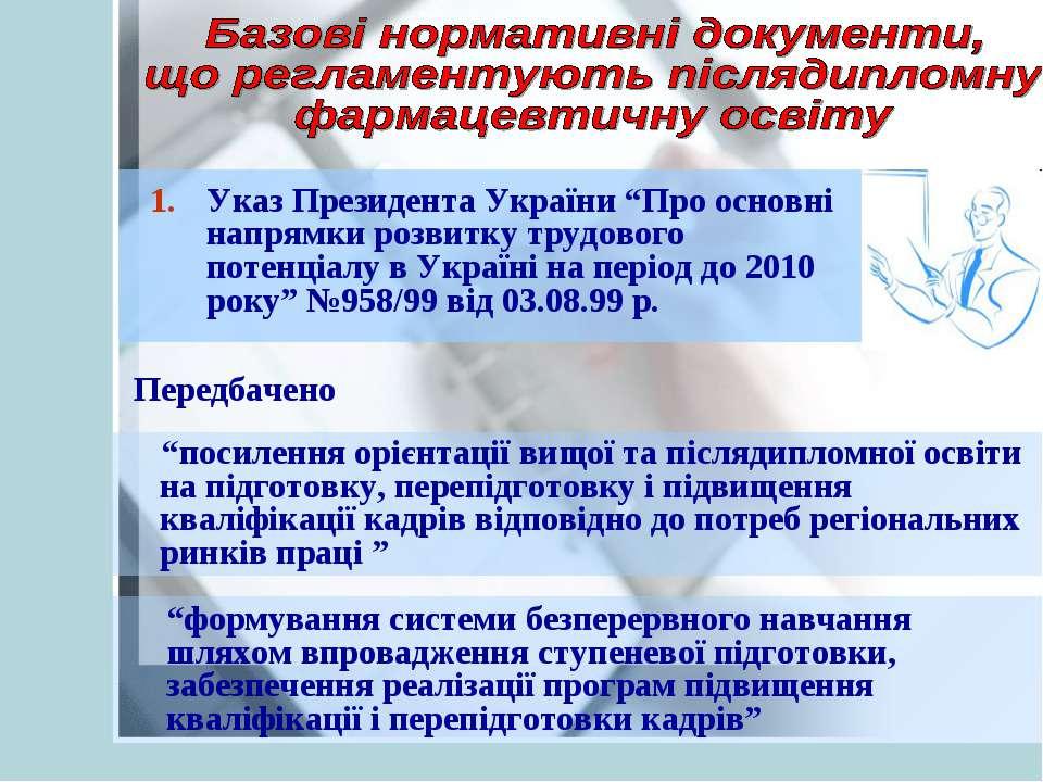 """Указ Президента України """"Про основні напрямки розвитку трудового потенціалу в..."""