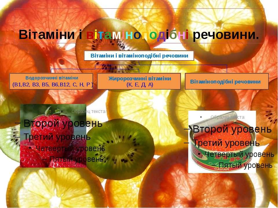 Вітаміни і вітаміноподібні речовини.