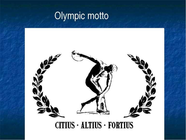 Olympic motto