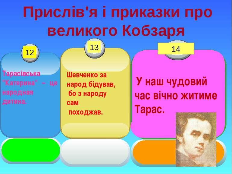 """Прислів'я і приказки про великого Кобзаря Тарасівська """"Катерина"""" – це народна..."""