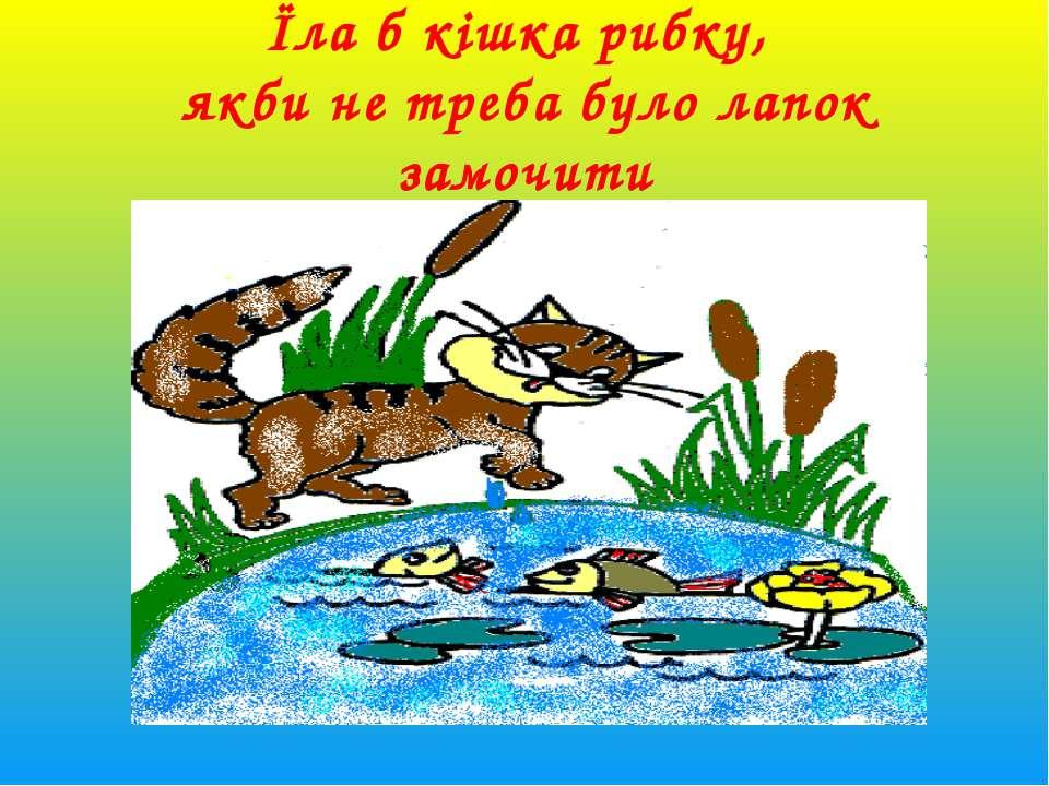 Їла б кішка рибку, якби не треба було лапок замочити