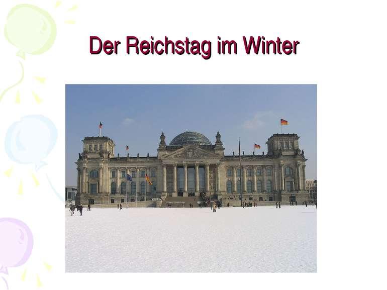 Der Reichstag im Winter