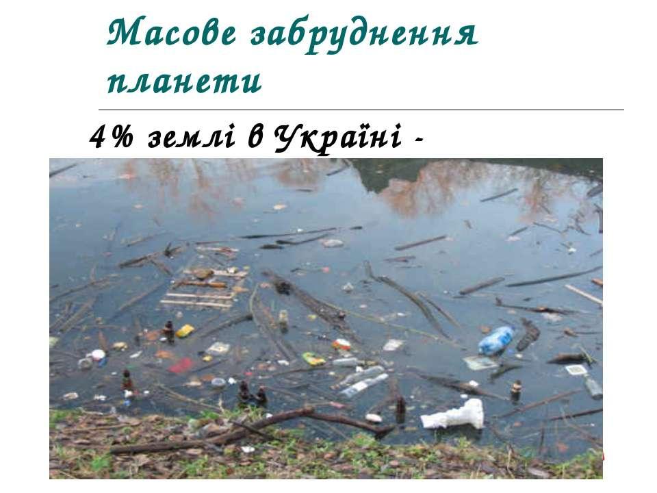 Масове забруднення планети 4% землі в Україні - смітники