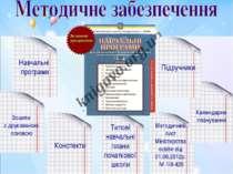 Навчальні програми Підручники Зошити з друкованою основою Конспекти Методични...