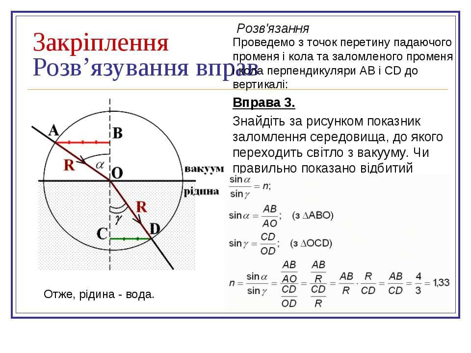 Закріплення Розв'язування вправ Вправа 3. Знайдіть за рисунком показник залом...