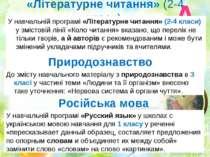 «Літературне читання» (2-4 класи) У навчальній програмі «Літературне читання»...
