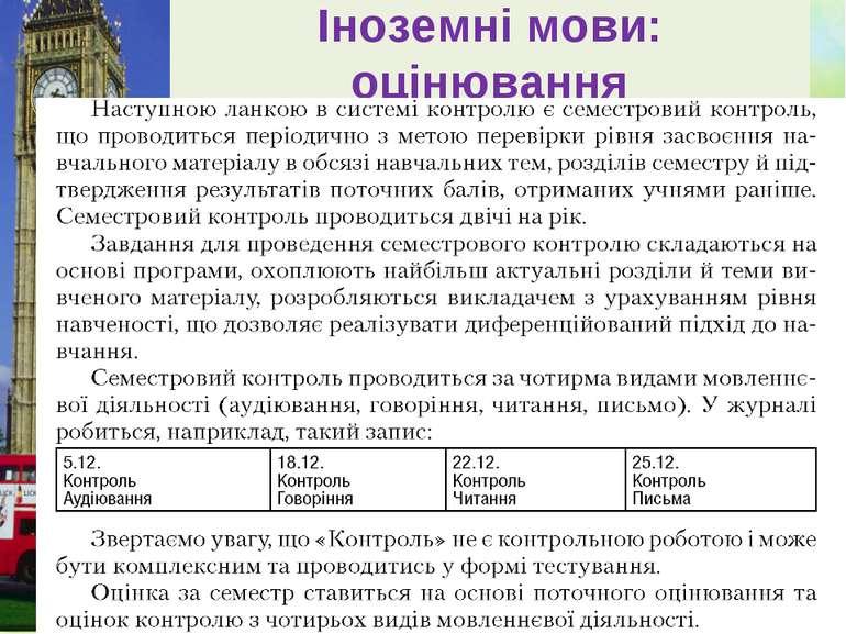 Іноземні мови: оцінювання