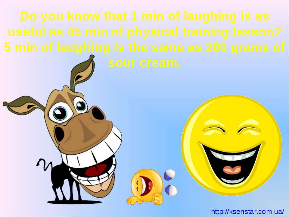 Do you know that 1 min of laughing is as useful as 45 min of physical trainin...