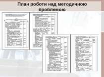 План роботи над методичною проблемою
