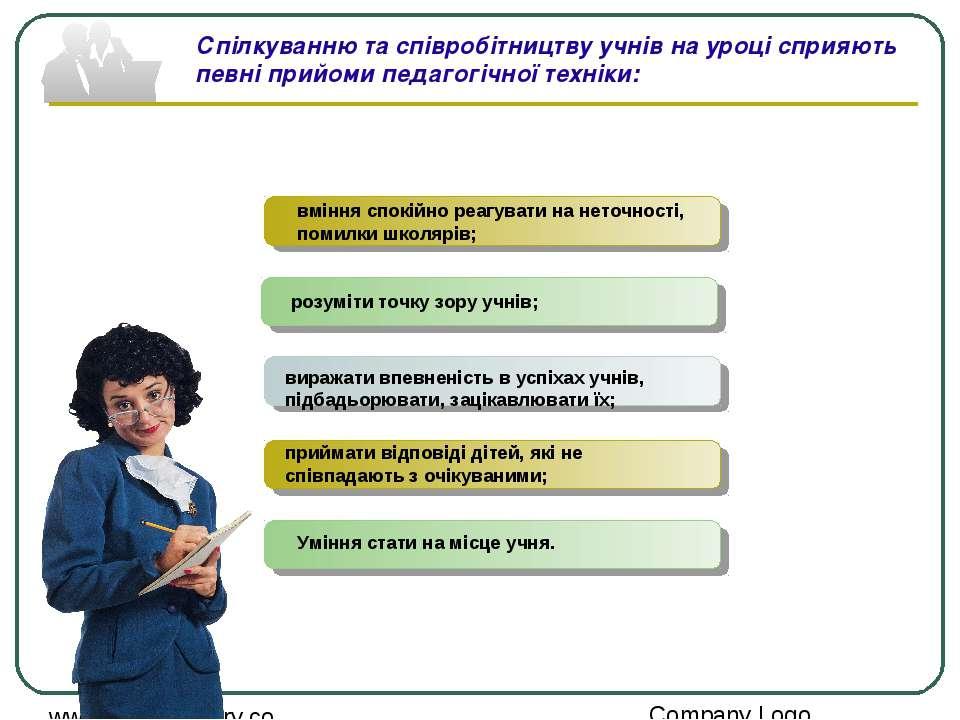Спілкуванню та співробітництву учнів на уроці сприяють певні прийоми педагогі...