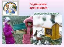 Годівнички для пташок ЕКОЛОГІЧНА СТЕЖИНА