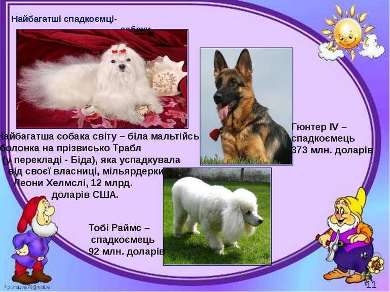 Могильська О. В. Цікаве з життя собак і котів, 2014 р. Найбагатші спадкоємці-...