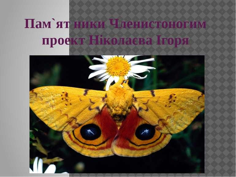 Пам`ят ники Членистоногим проект Ніколаєва Ігоря