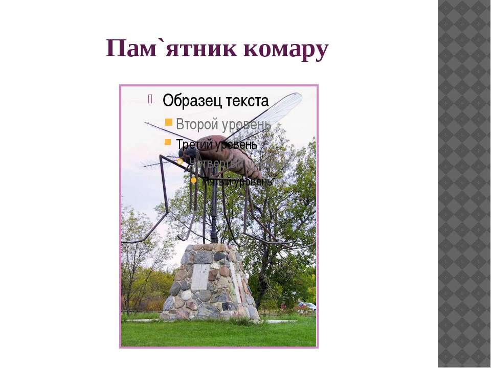 Пам`ятник комару Місто Комарно (Komarno) в Словакії Еще один комар установлен...
