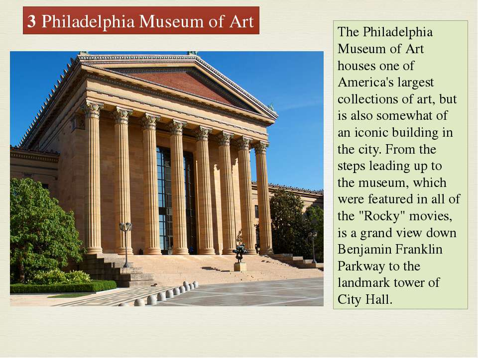 The Philadelphia Museum of Art houses one of America's largest collections of...