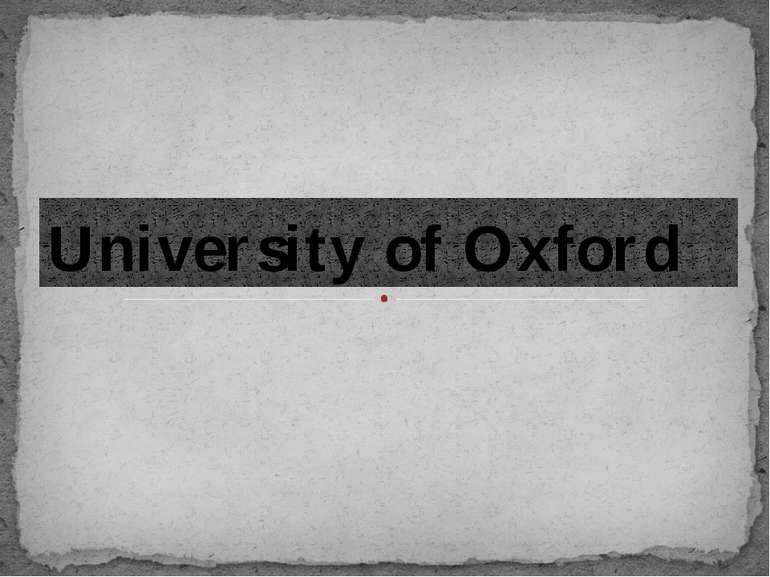 University of Oxford
