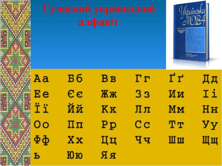 Сучасний український алфавіт