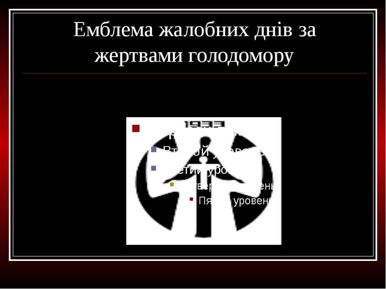 Емблема жалобних днів за жертвами голодомору
