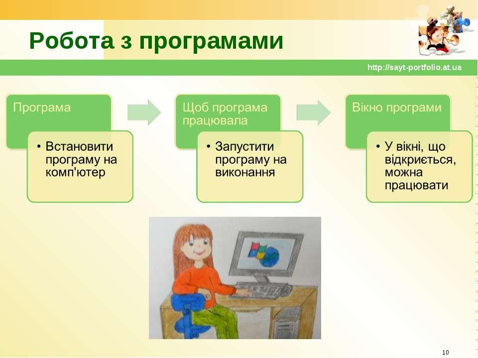Робота з програмами * http://sayt-portfolio.at.ua http://sayt-portfolio.at.ua