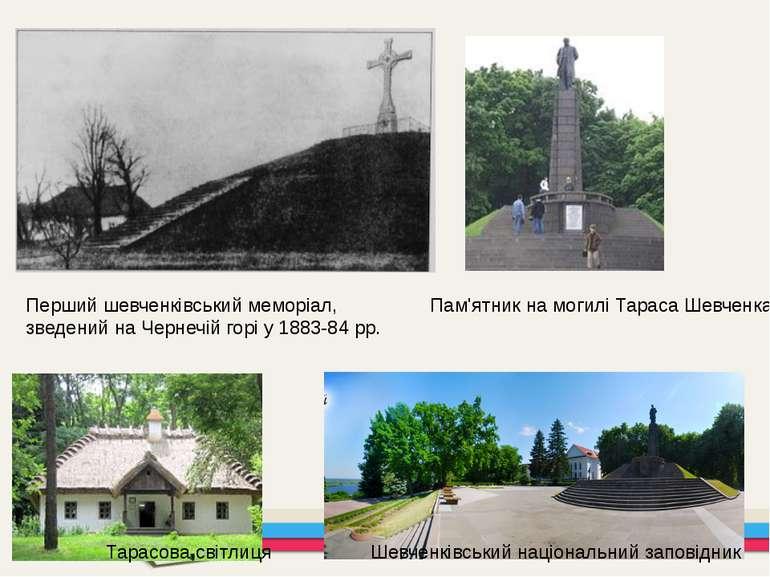Перший шевченківський меморіал, зведений на Чернечій горі у 1883-84 рр. Пам'я...