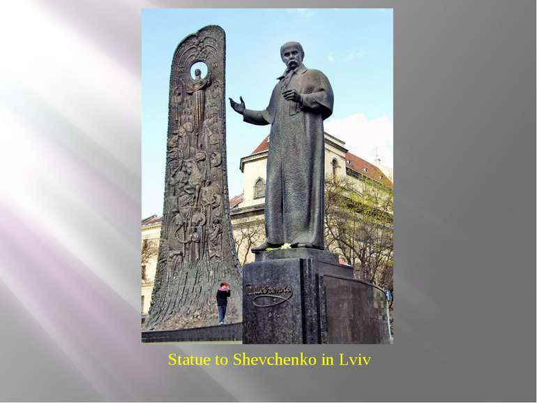 Statue to Shevchenko in Lviv