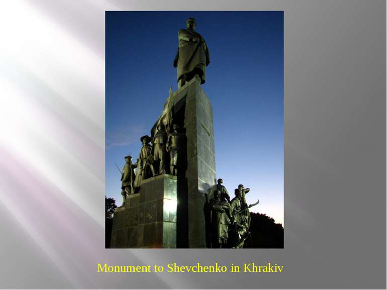 Monument to Shevchenko in Khrakiv