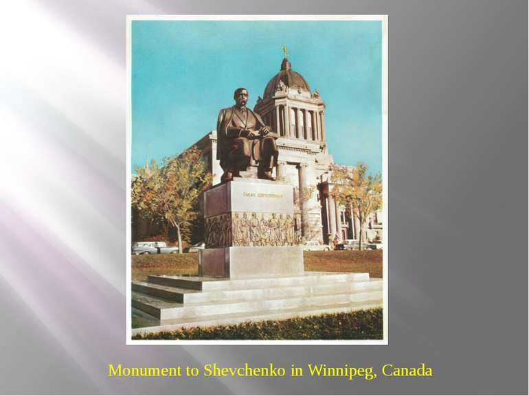 Monument to Shevchenko in Winnipeg, Canada