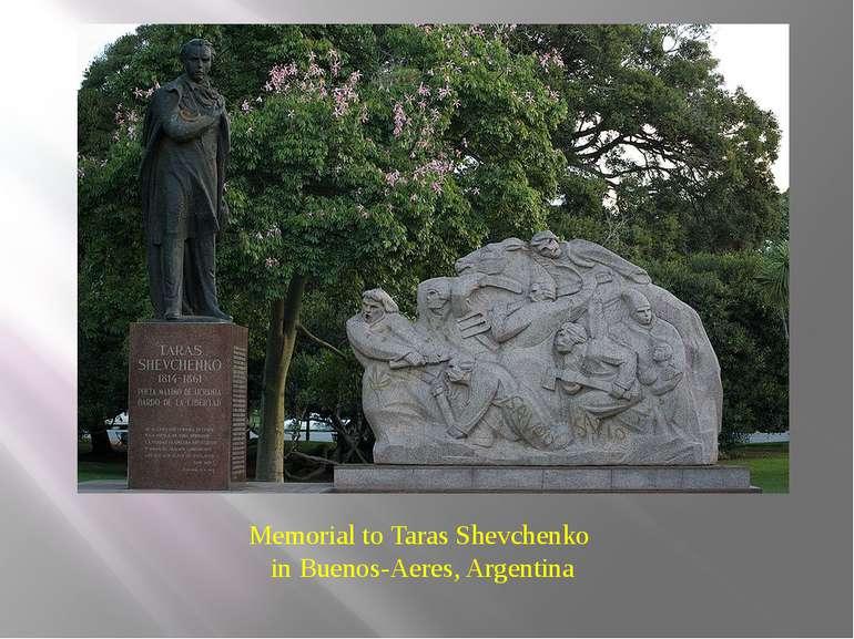 Memorial to Taras Shevchenko in Buenos-Aeres, Argentina