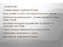 розвиток дії: Сулима вирішує зруйнувати Кодак похід Сулими на Азов, аби зібра...