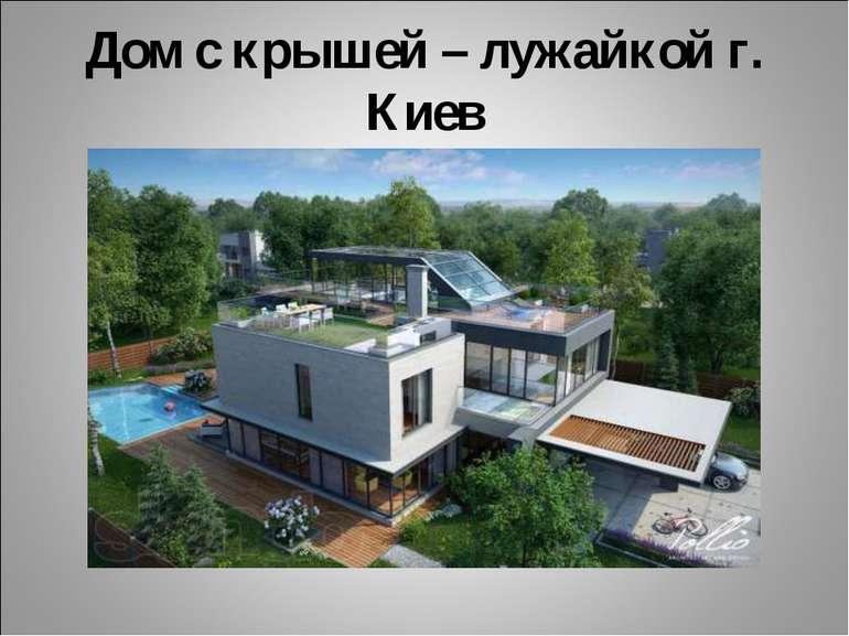 Дом с крышей – лужайкой г. Киев