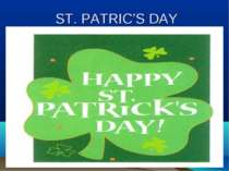ST. PATRIC'S DAY
