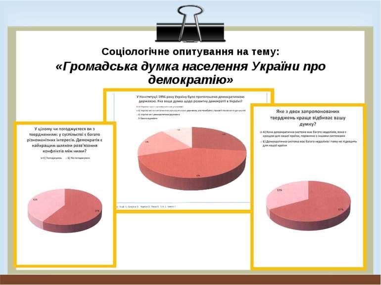 Соціологічне опитування на тему: «Громадська думка населення України про демо...