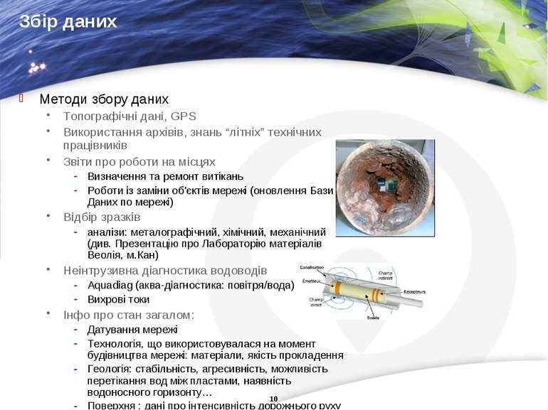 Збір даних Методи збору даних Топографічні дані, GPS Використання архівів, зн...