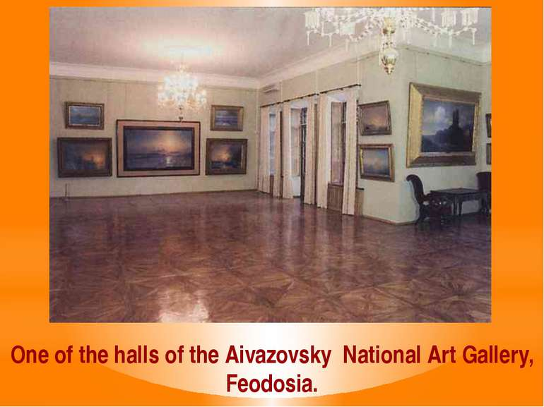 One of the halls of the Aivazovsky National Art Gallery, Feodosia.