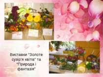 """Виставки """"Золоте сузір'я квітів"""" та """"Природа і фантазія"""""""