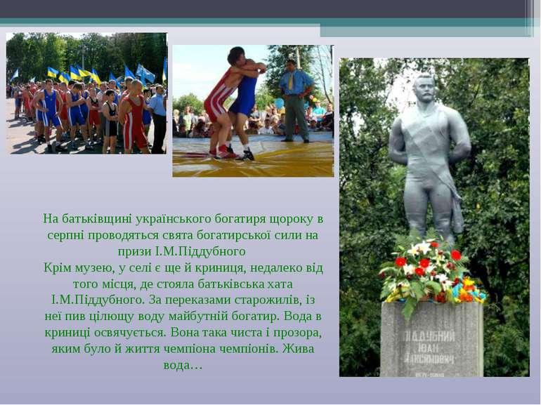 На батьківщині українського богатиря щороку в серпні проводяться свята богати...