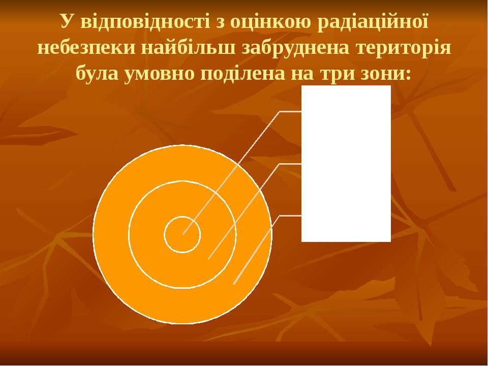 У відповідності з оцінкою радіаційної небезпеки найбільш забруднена територія...