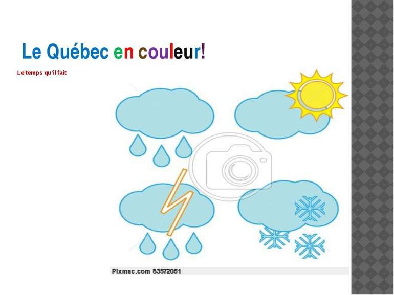 Le Québec en couleur! Le temps qu'il fait