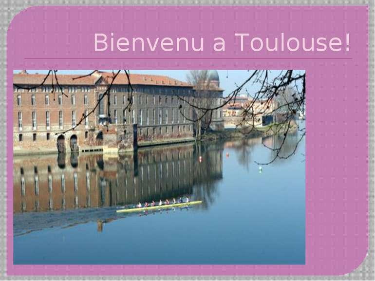 Bienvenu a Тoulouse!