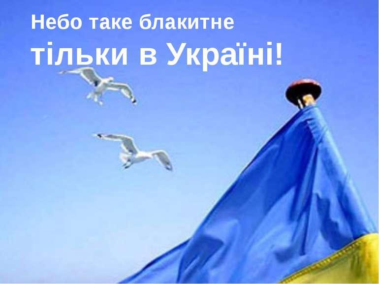 Небо таке блакитне тільки в Україні!